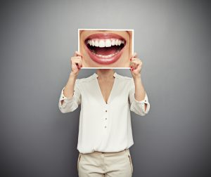 woman after adult braces